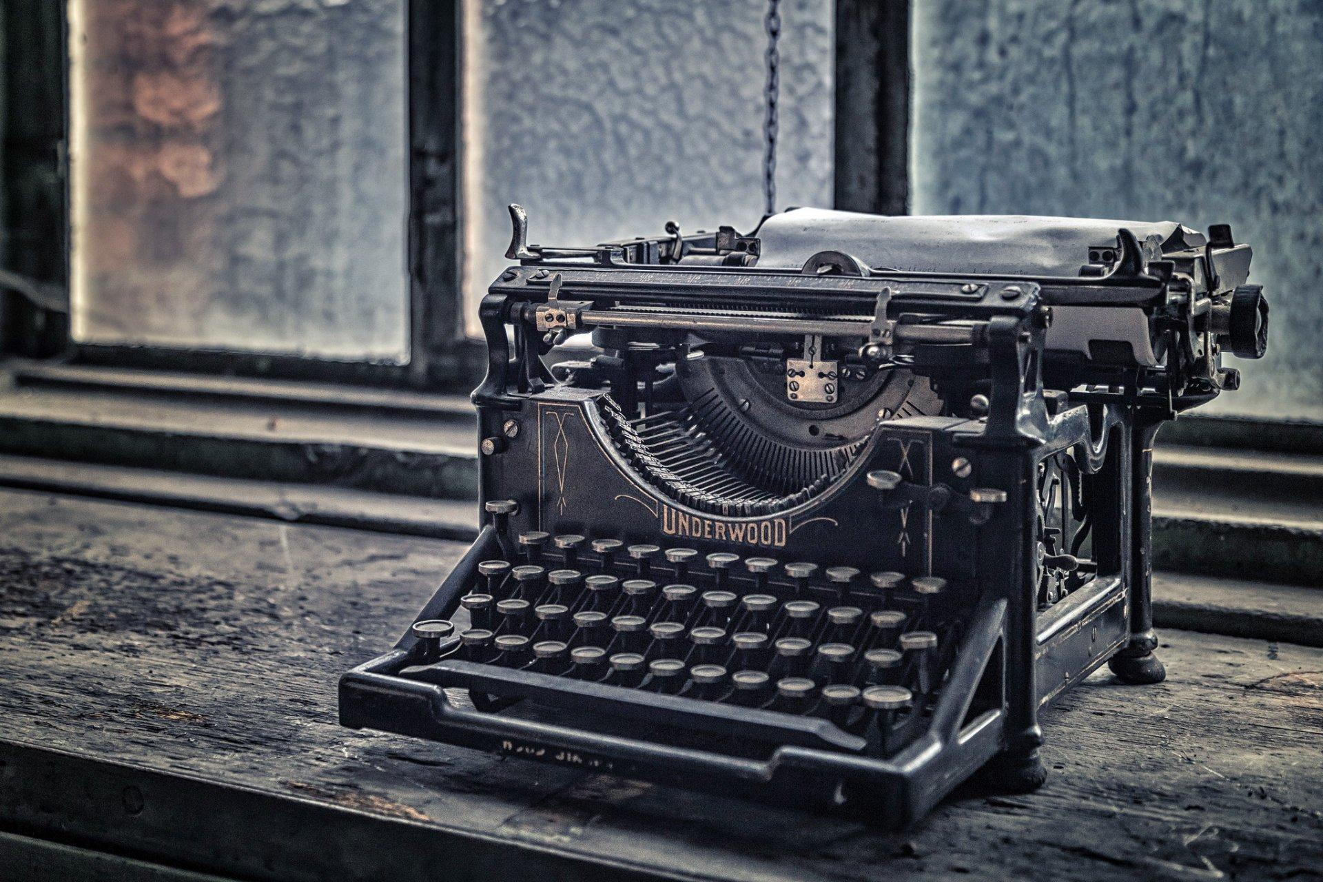 Фото старые печатные машинки