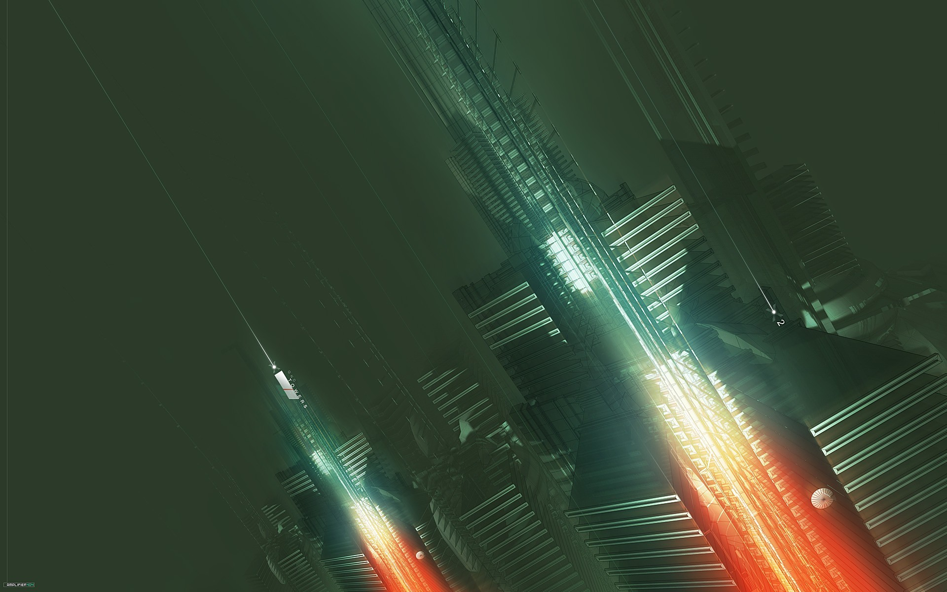 amplifier404 3d abstract city future