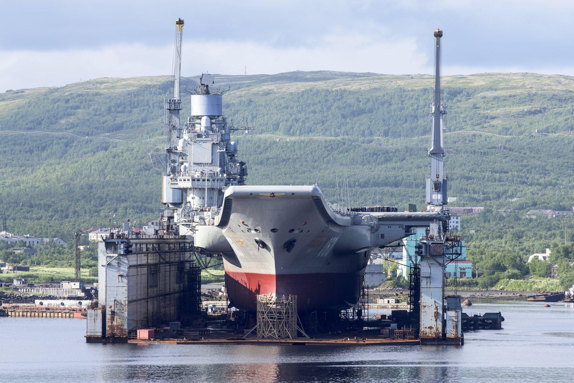 Названа причина затопленияплавдока «Адмирала Кузнецова»