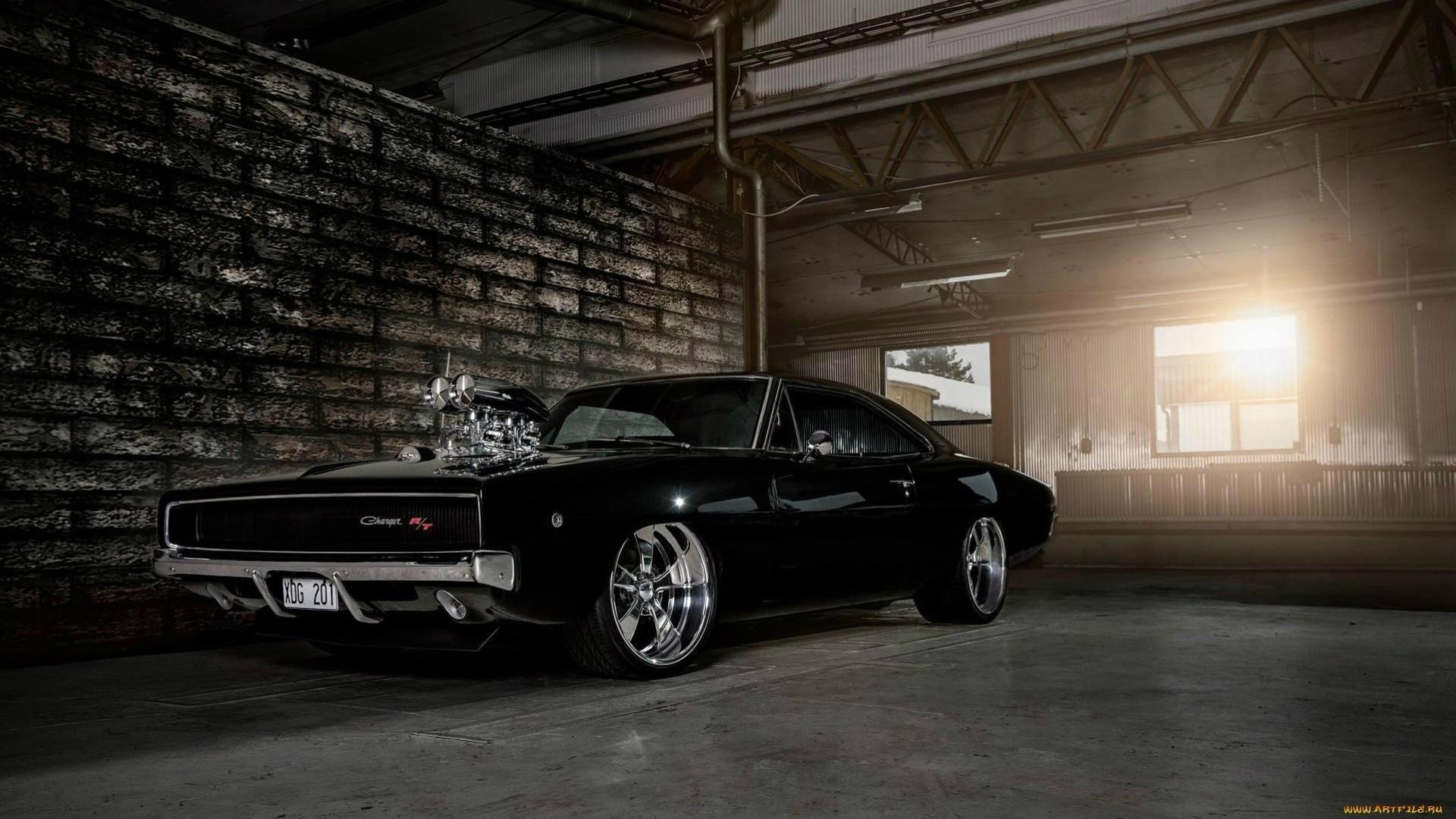 черный автомобиль dodge charger matte скачать