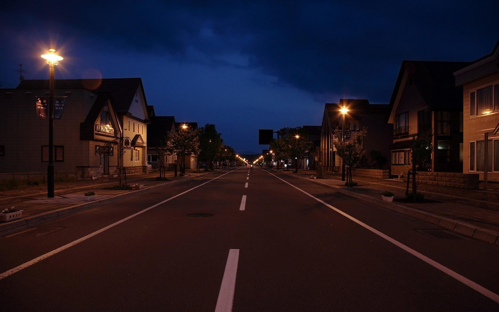 Картинки город ночью улицы, технике