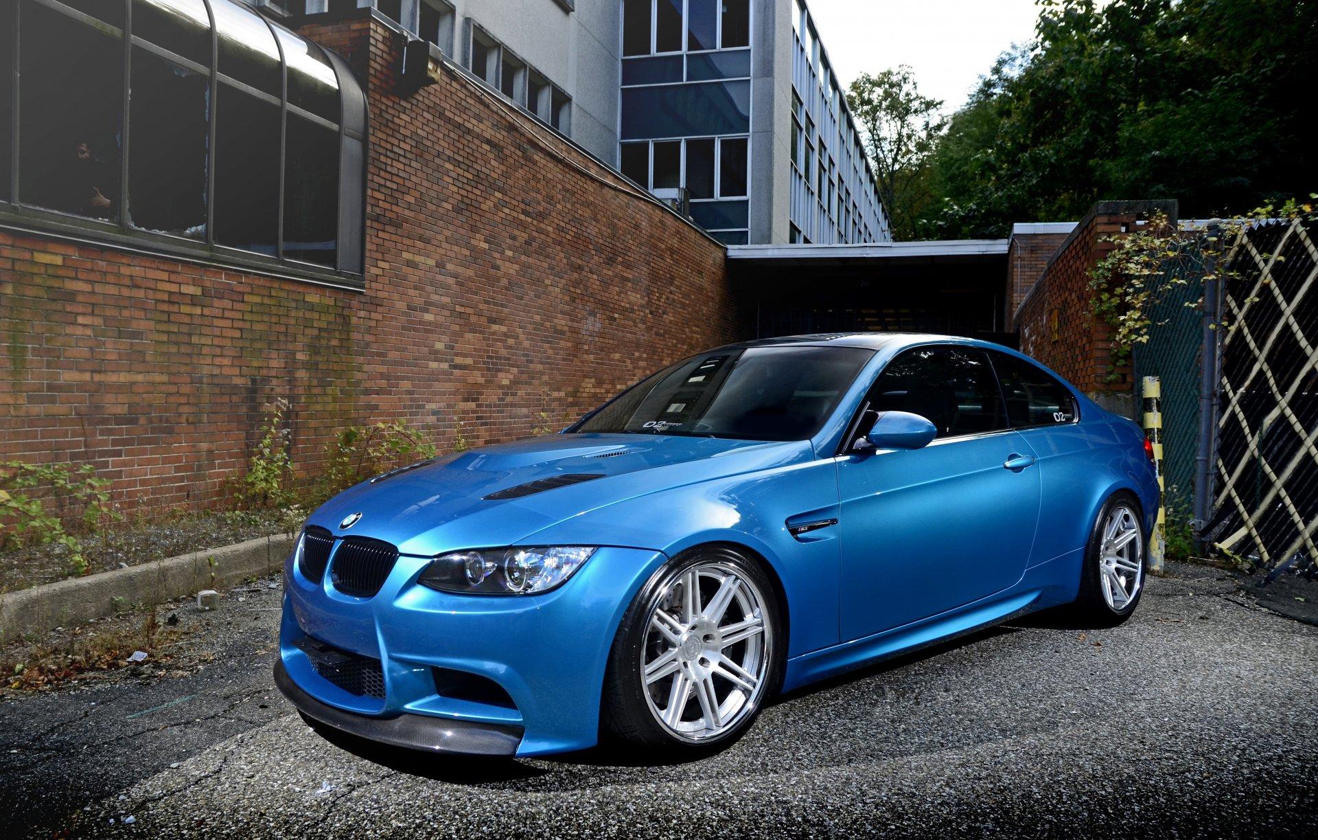 Обои Облака, синий, blue, Bmw, M3, задок. Автомобили foto 9