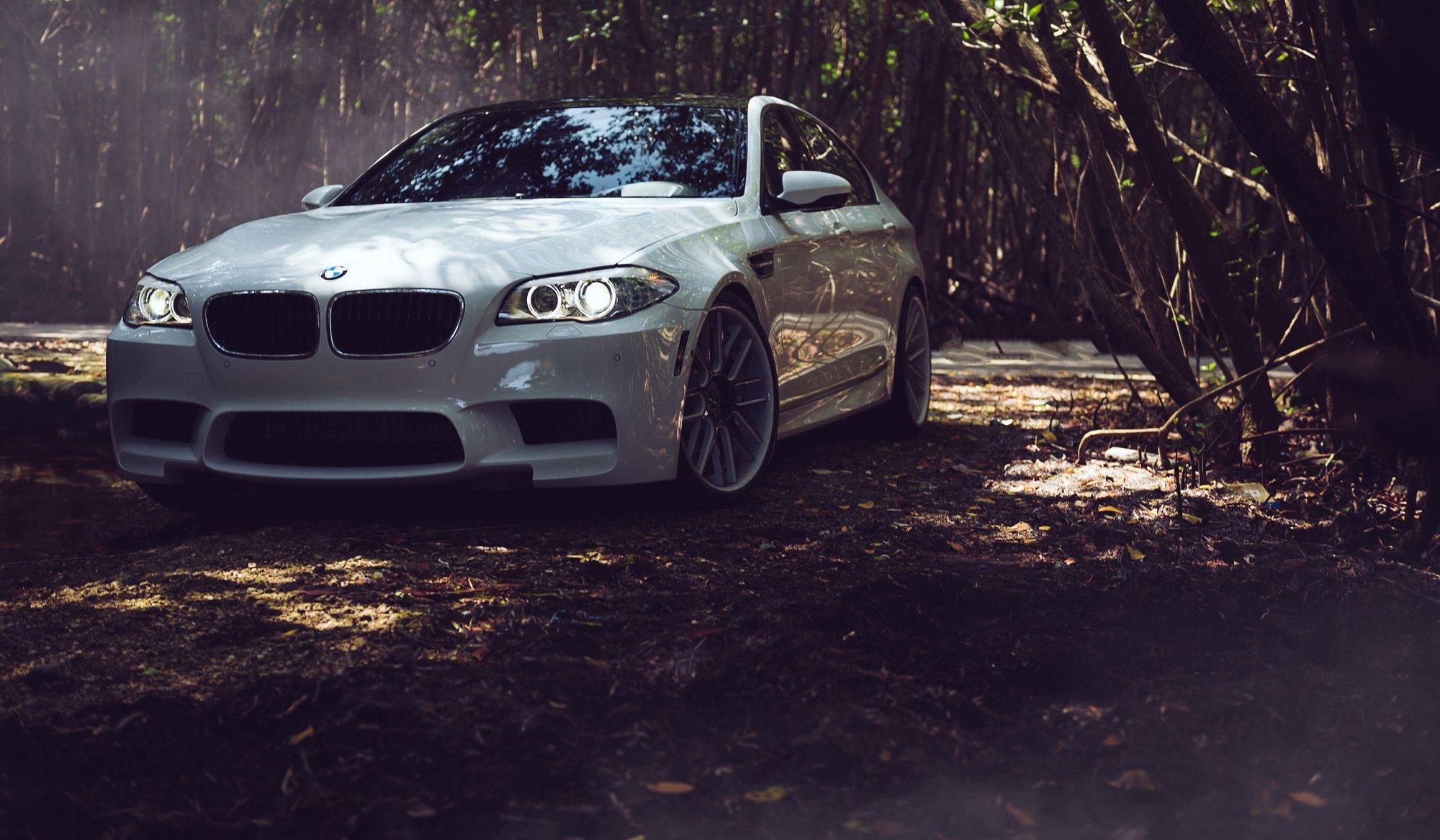 Белый BMW M5  № 445193 загрузить