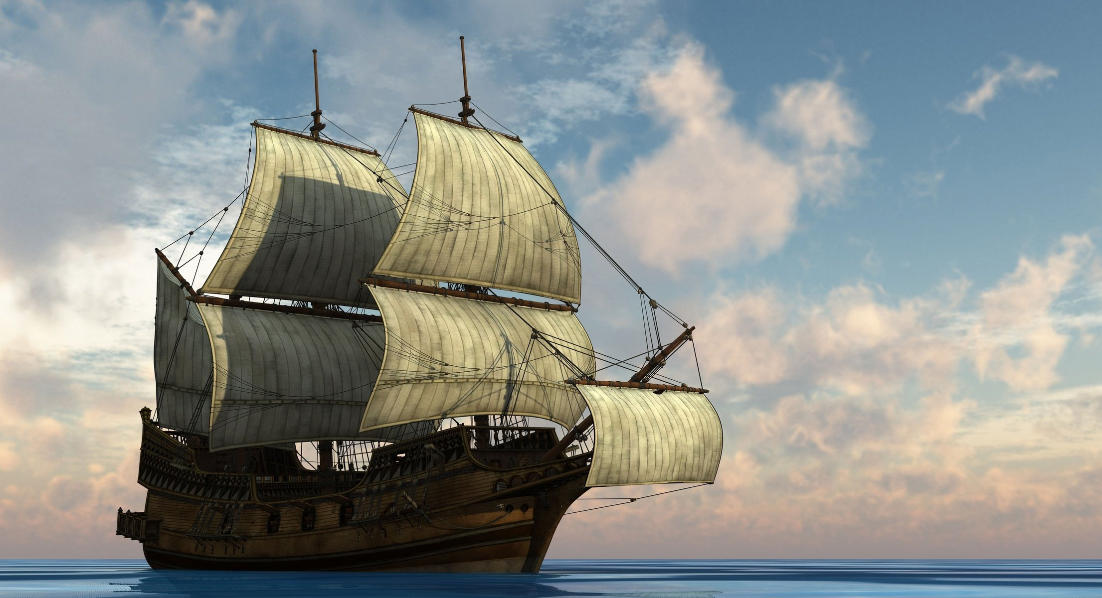 Гиф, картинки фрегаты в море