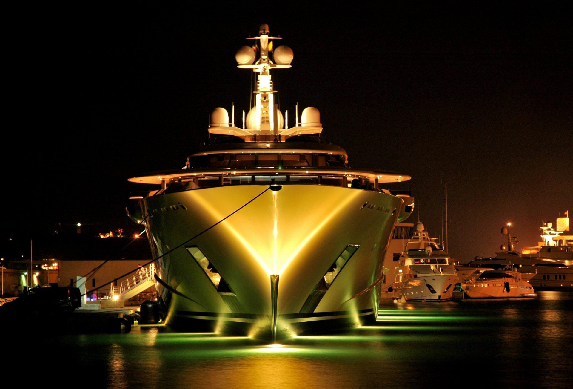 Обои ночь, яхты. Разное foto 12