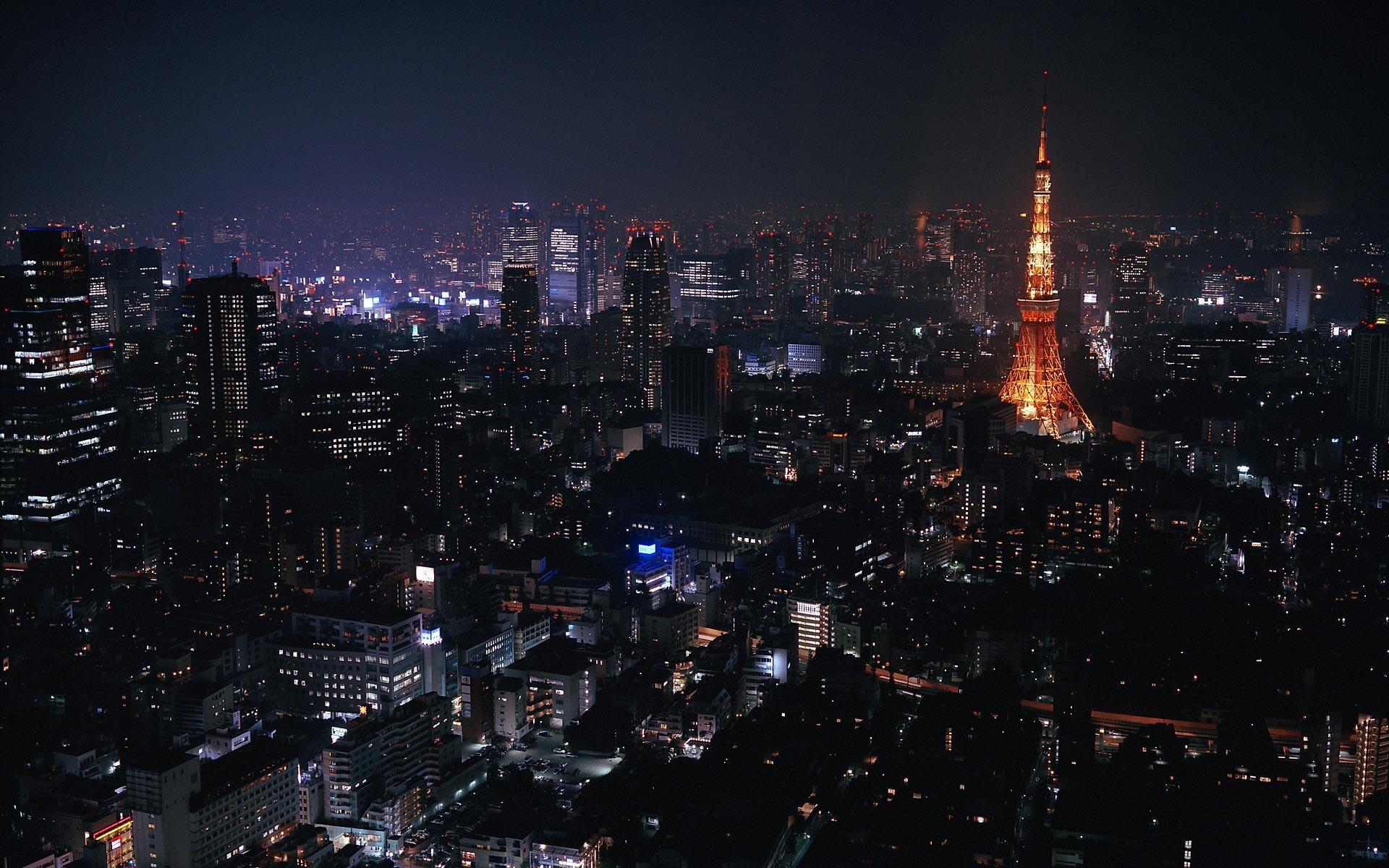 Ночной Токио Japan, Tokyo, night без смс