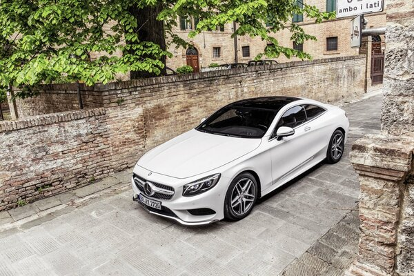 Mercedes-Benz S-Class Coupe Мерседес Белый Класс Капот Машина Авто