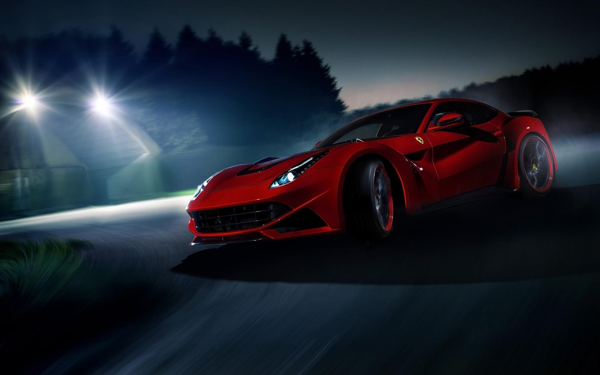 Ferrari F12 дорога забор загрузить