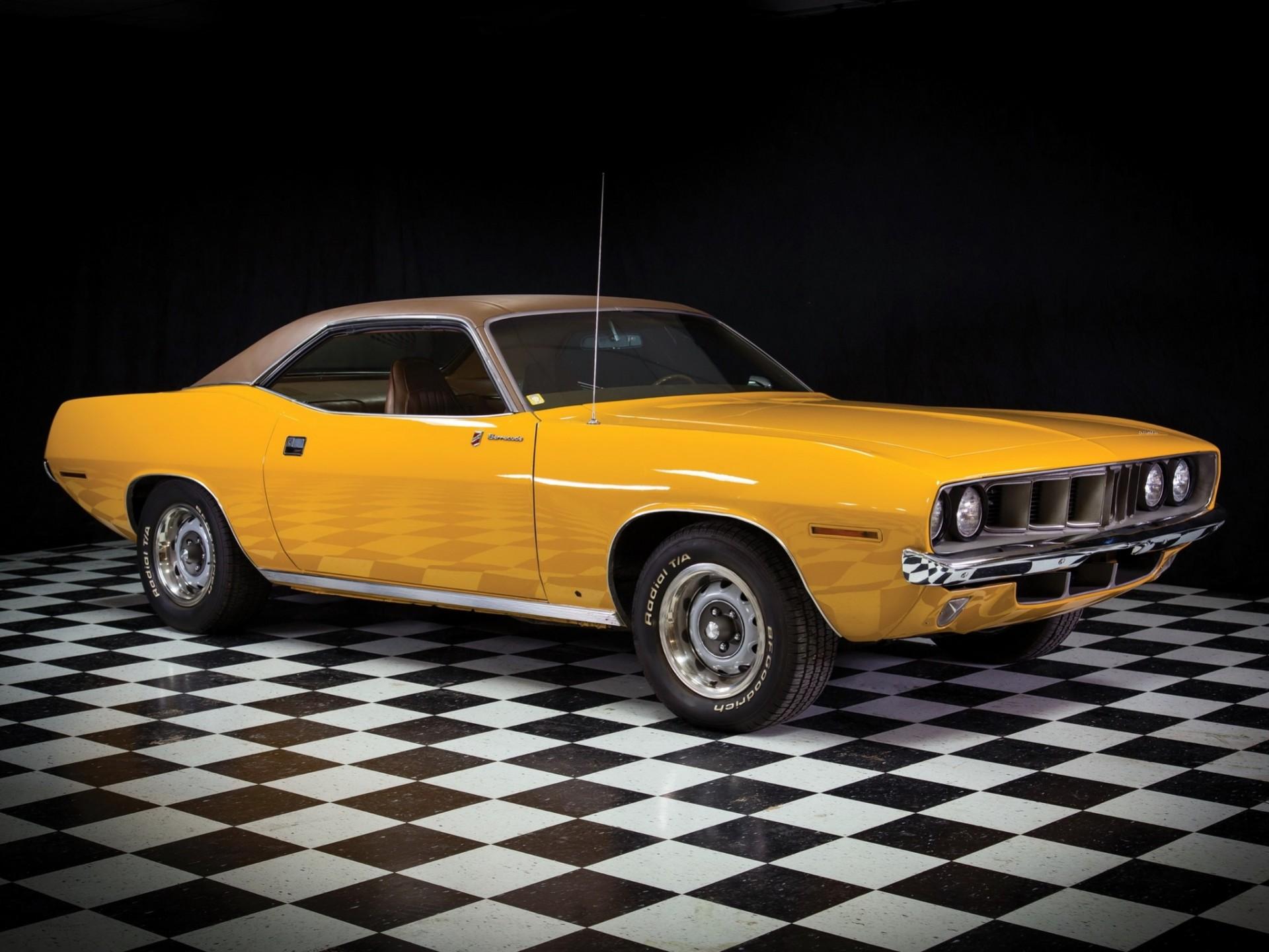 Обои плимут, желтый, кабриолет, Plymouth, cuda, мускул. Автомобили foto 7