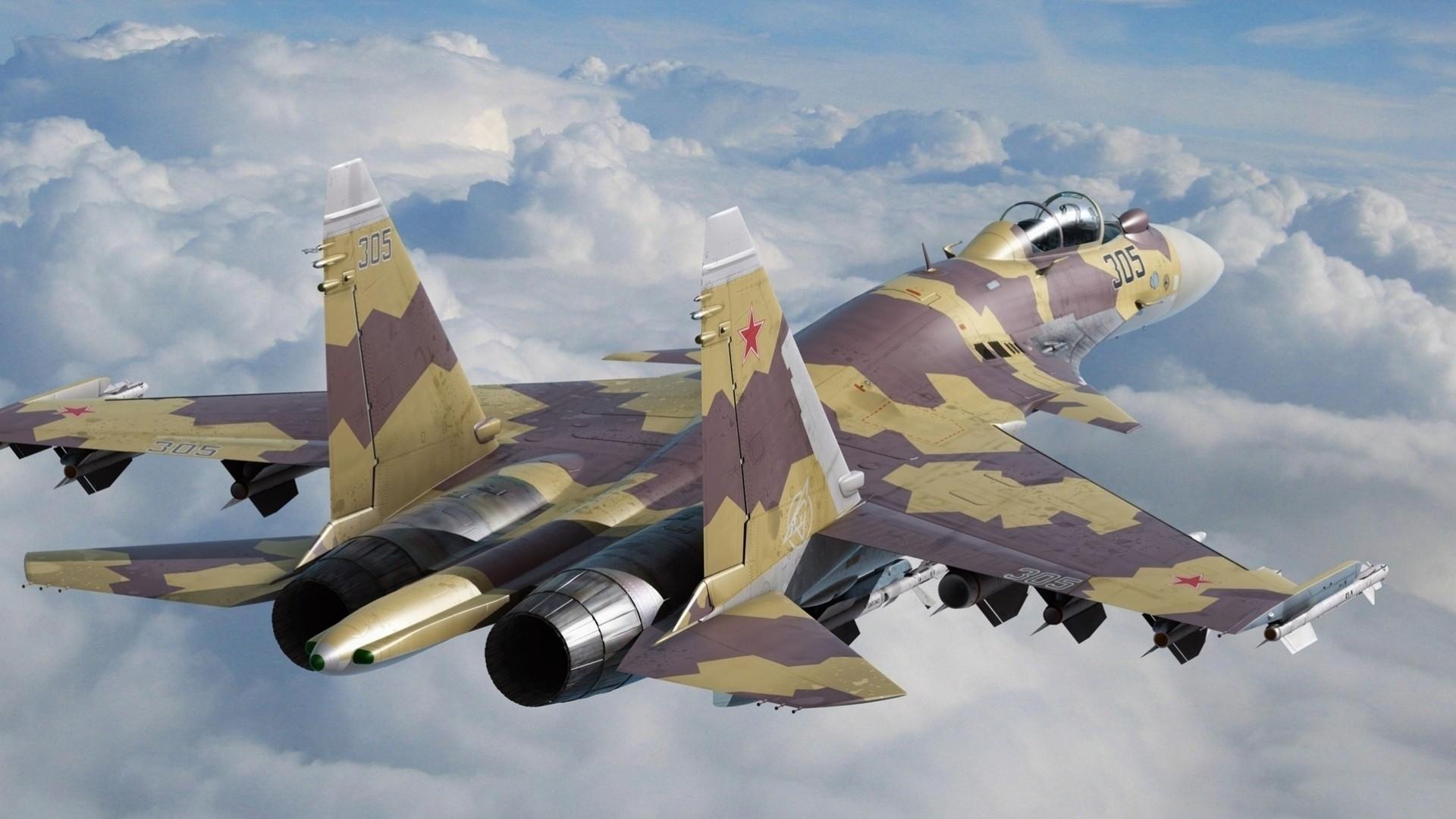 Обои Su-35S, Самолёт. Авиация foto 19