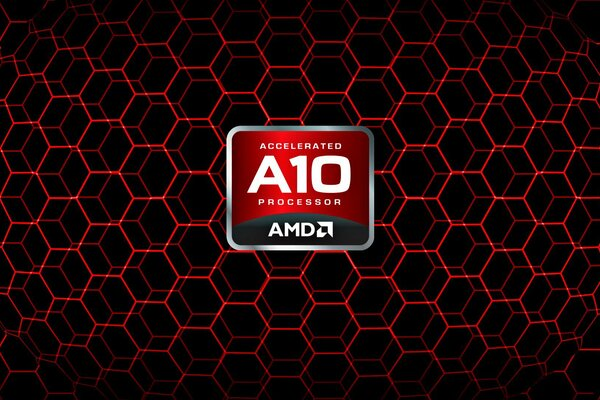 AMD APU Red A10 logo