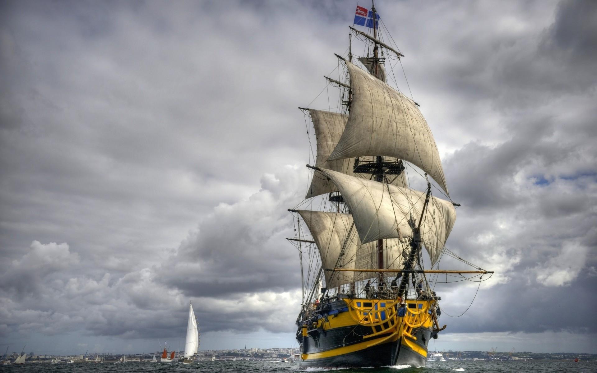 Обои фрегат, парусник, алые паруса. Города foto 12