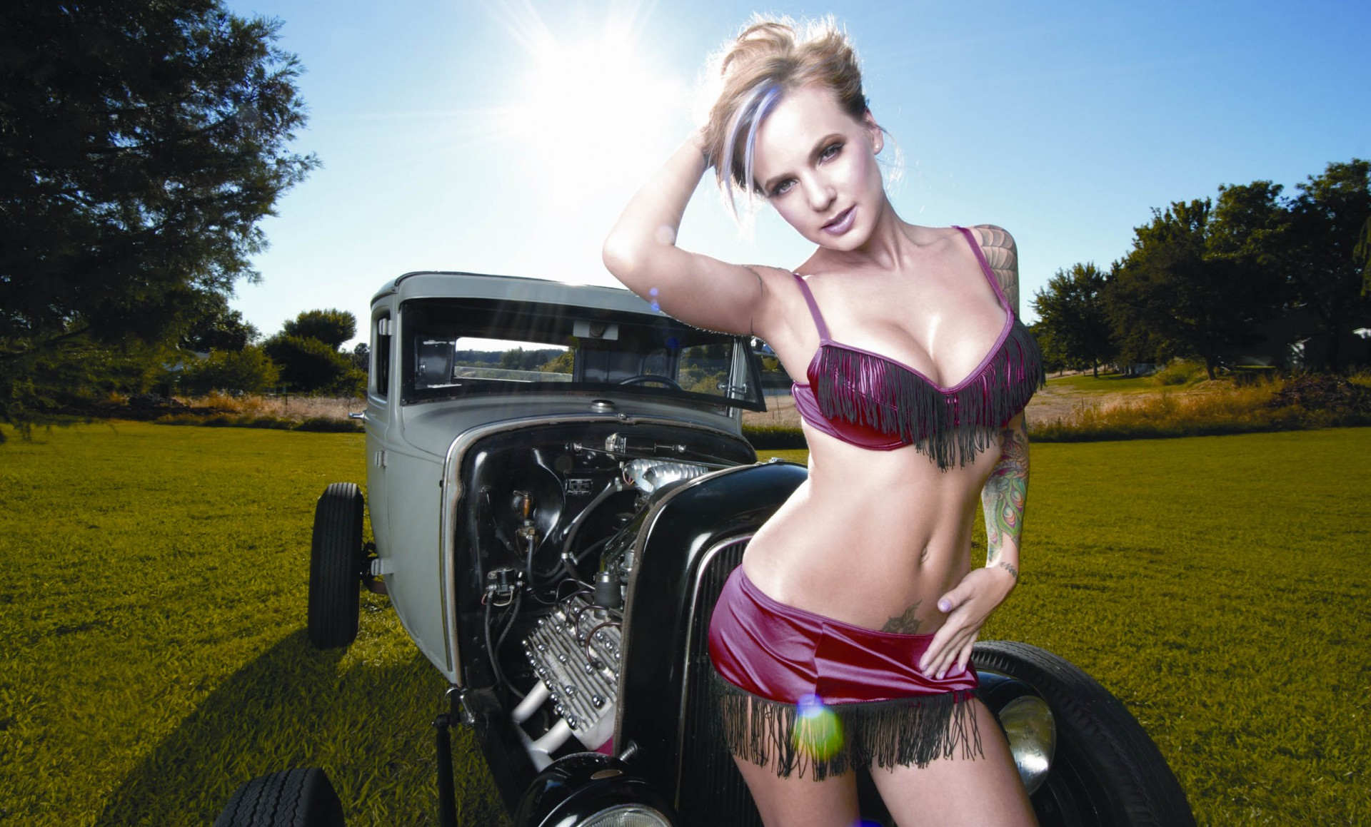 nikki hot rod pinup