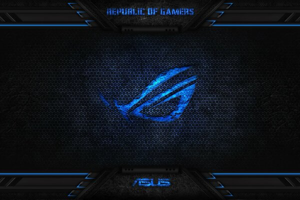 rog republic of gamers asus blue