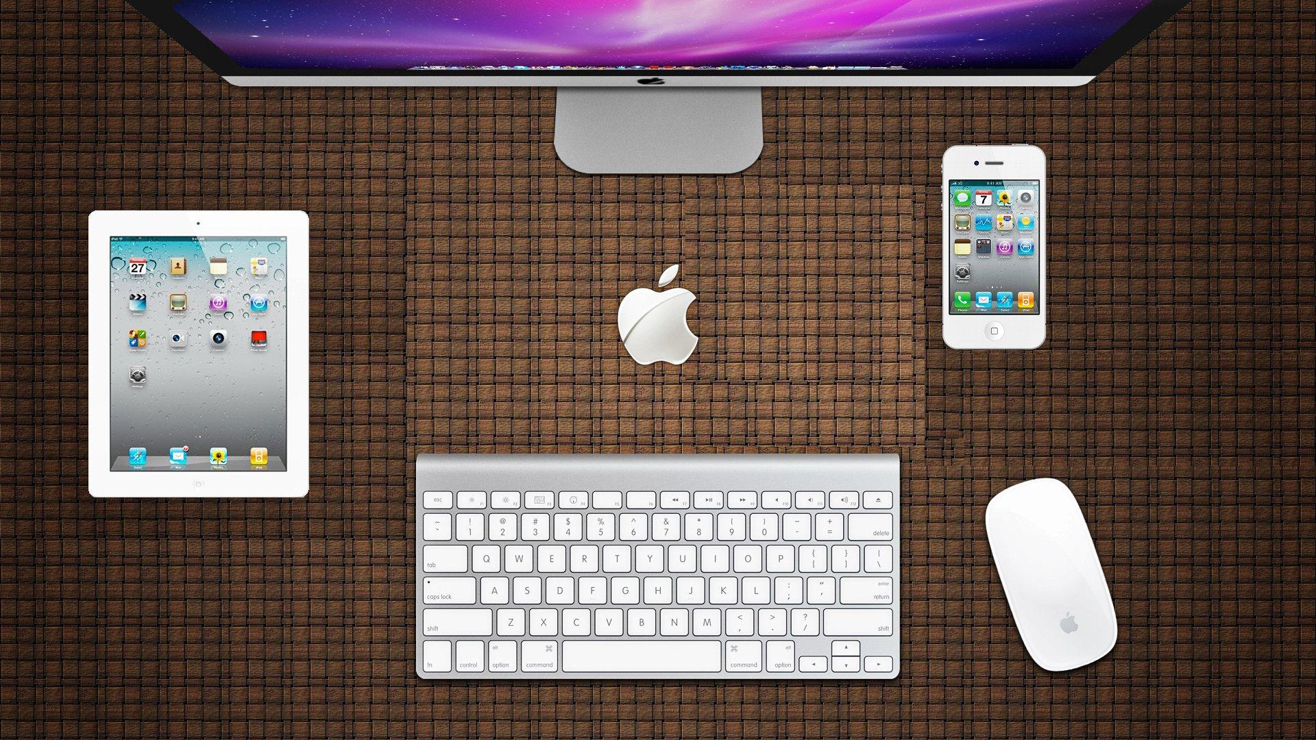 Компьютерный стол с apple бесплатно