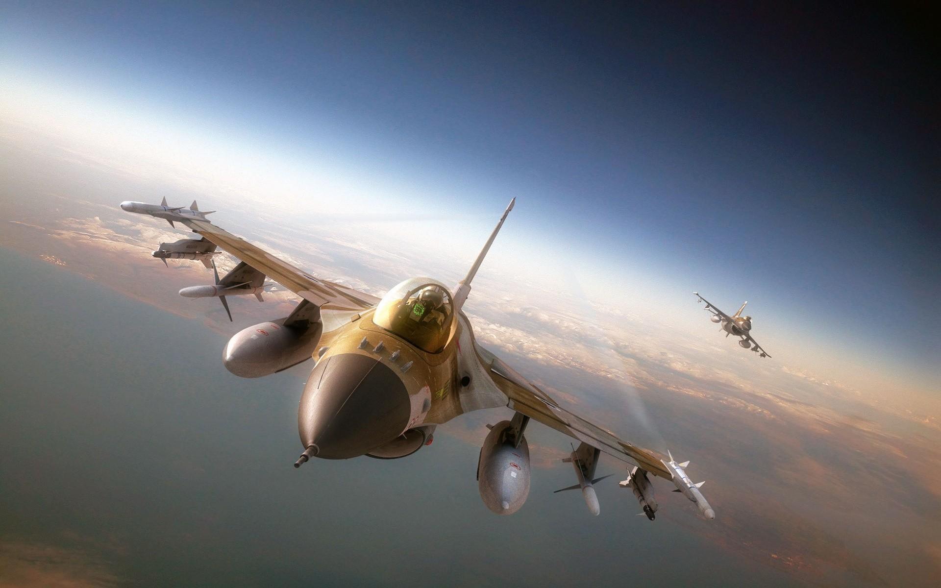 Обои Самолёт, F16. Авиация foto 13