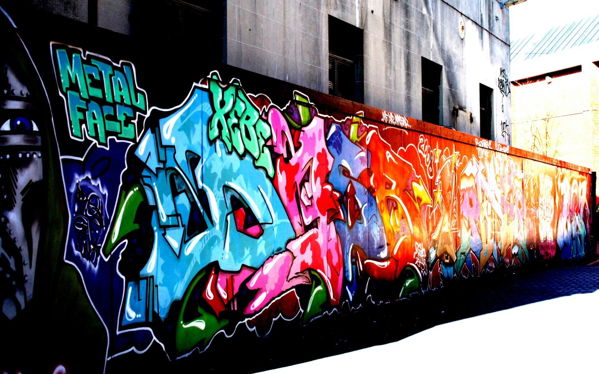 обои на телефон граффити на стенах другой