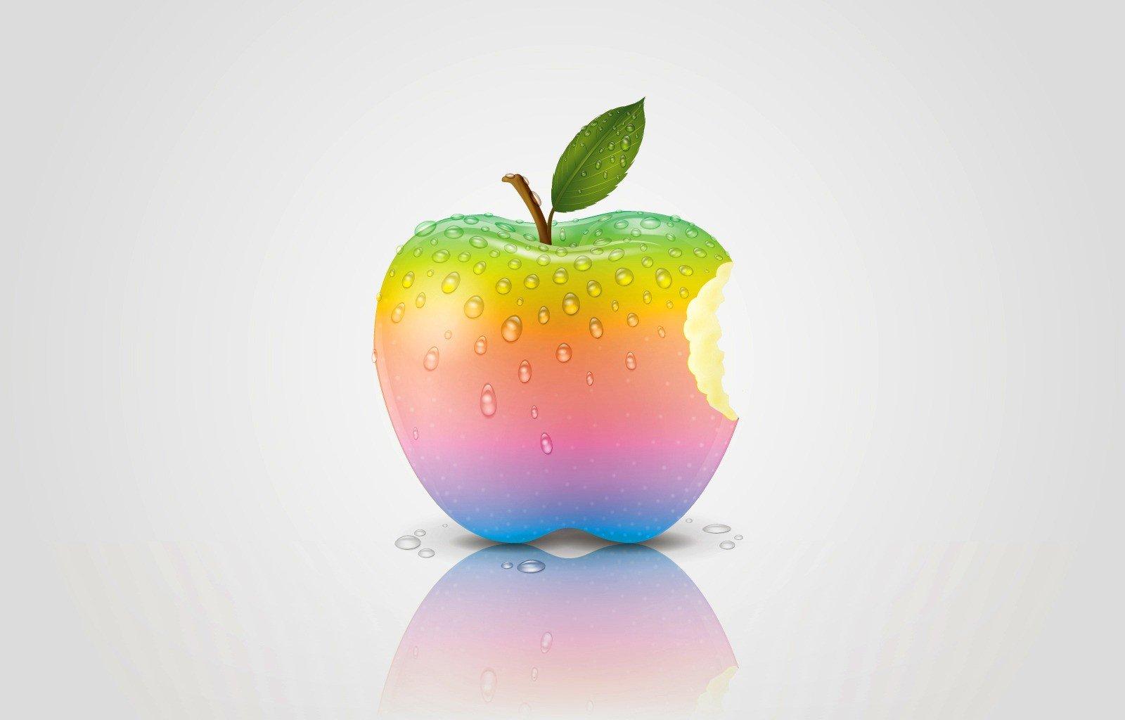 картинки радужного яблока садоводы