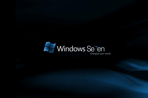 windows 7 семь синий фон программа
