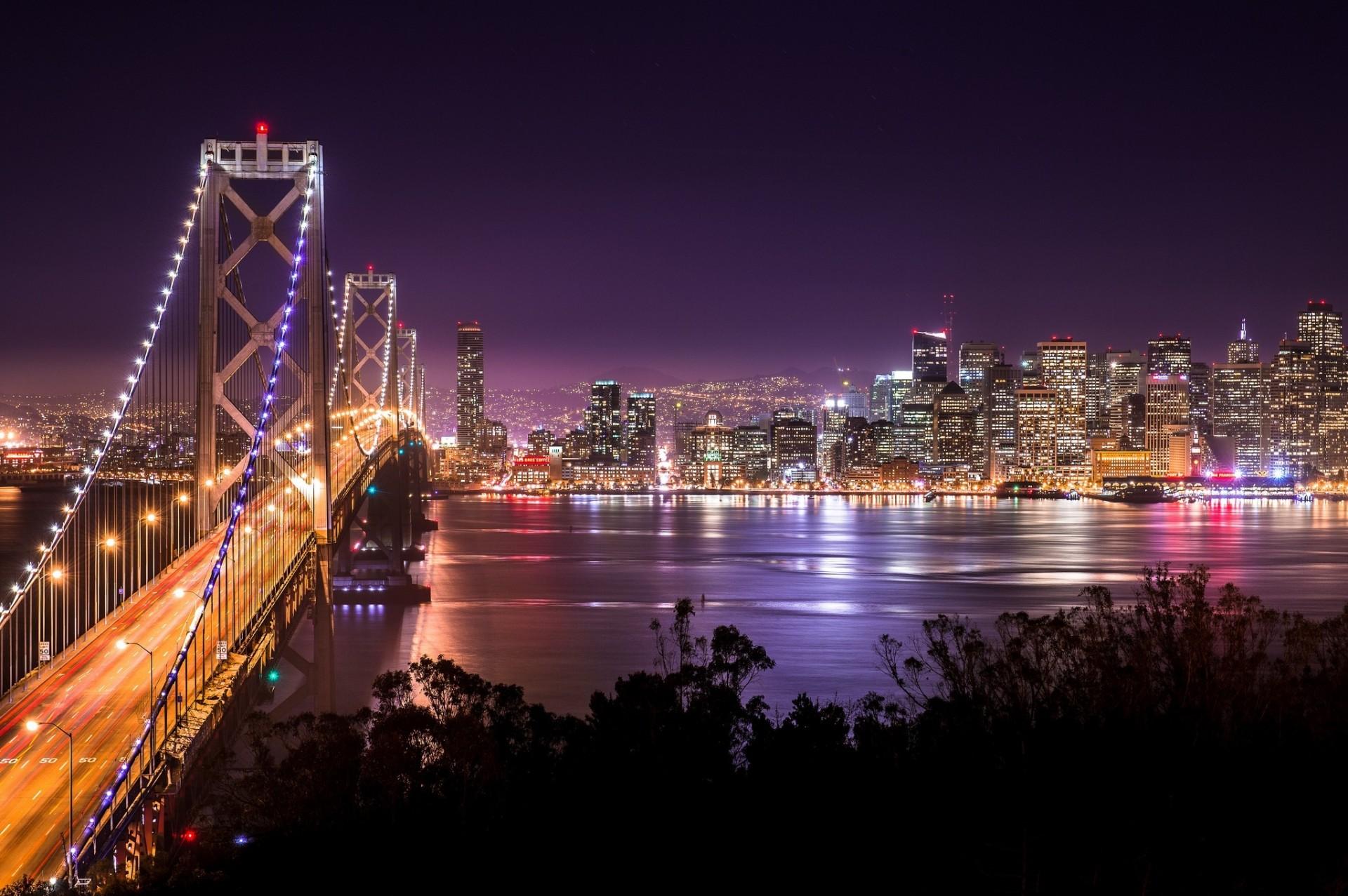 страны архитектура вечер США Сан-Франциско country architecture evening USA San Francisco CA загрузить