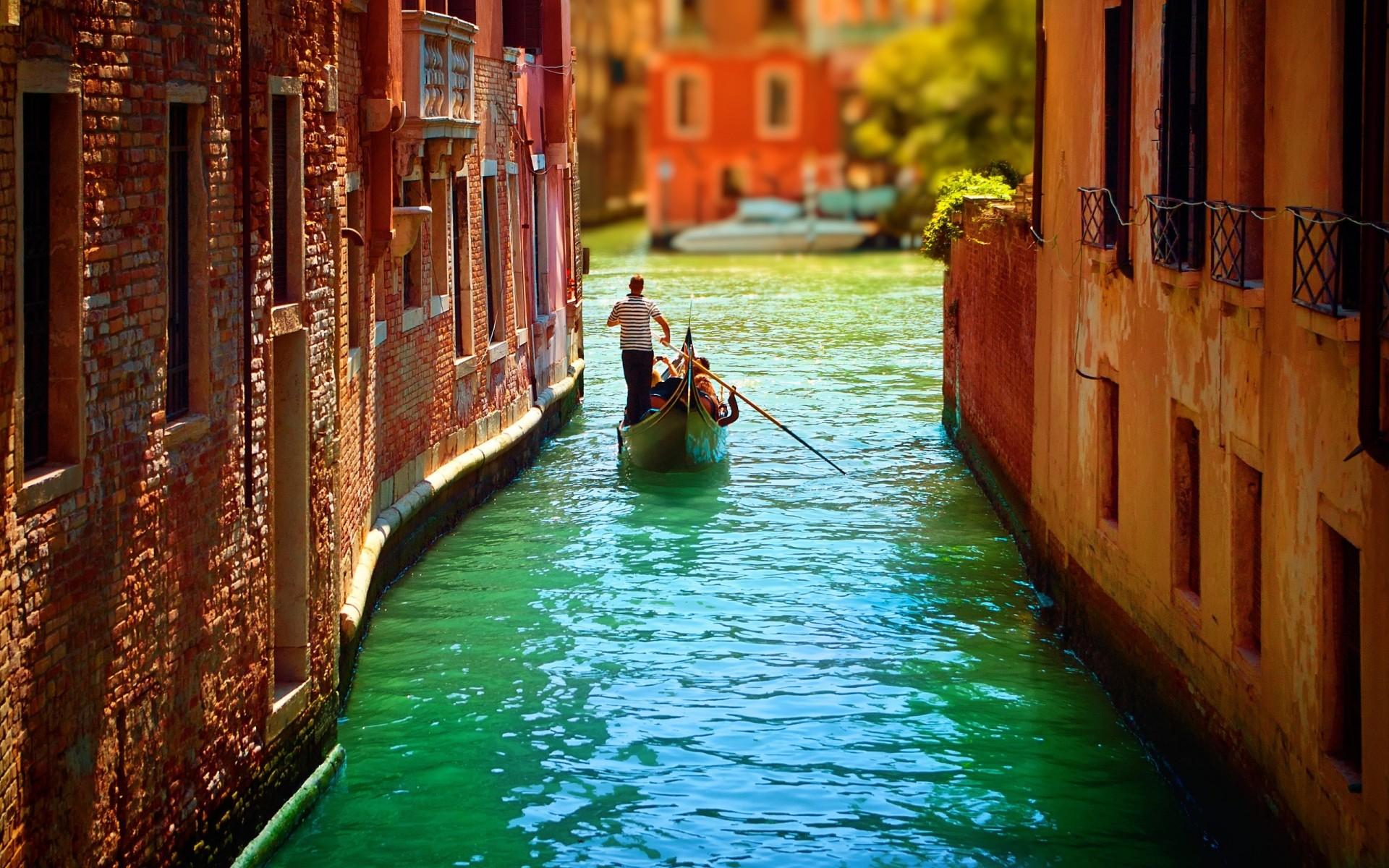 Обои лодка, канал, венеция. Города foto 10