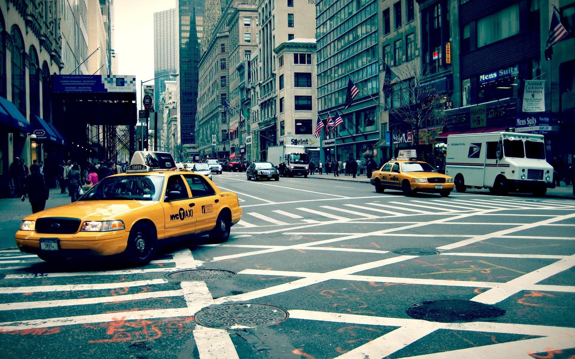 Обои такси, улица. Города foto 6