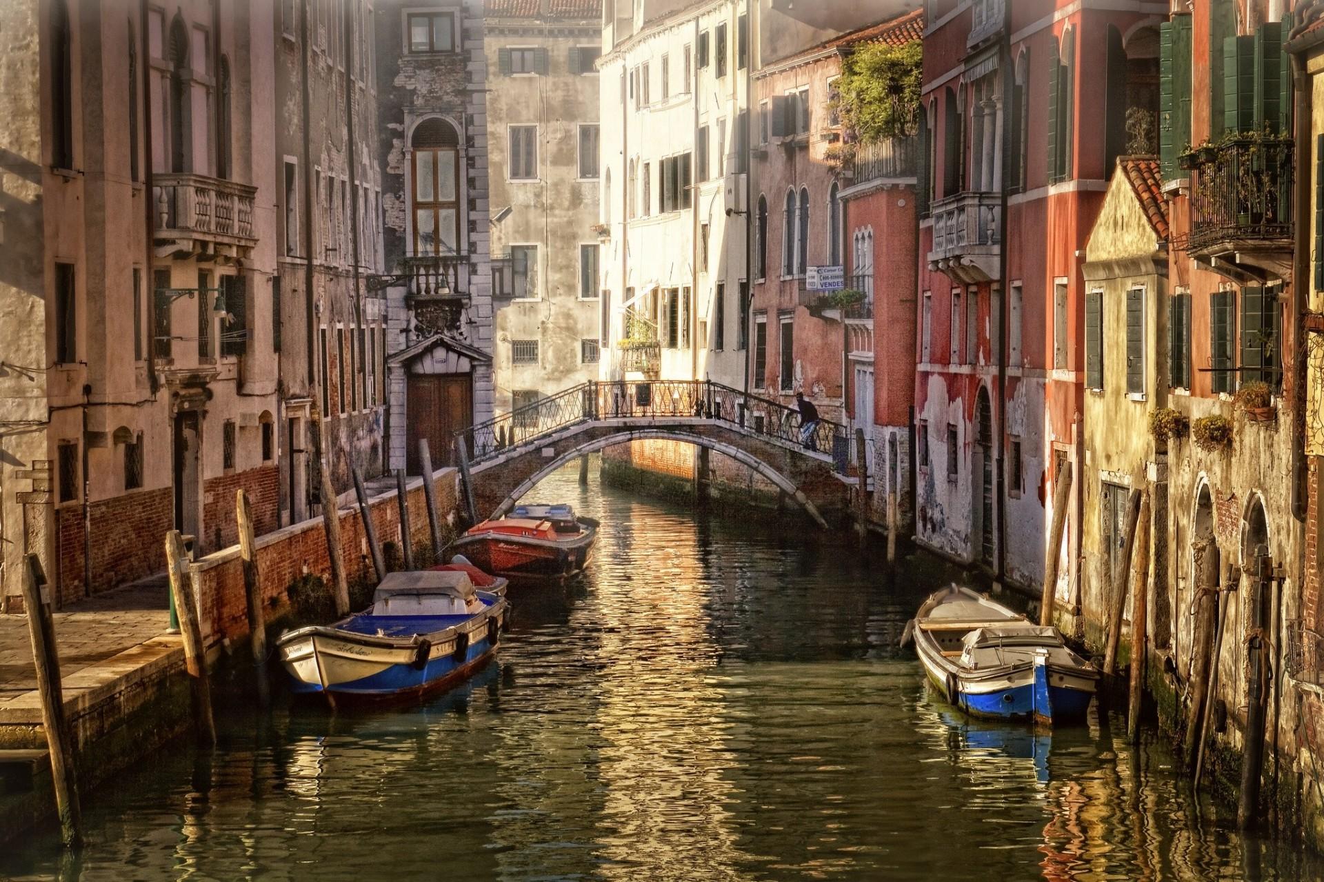 Обои лодка, канал, венеция. Города foto 7