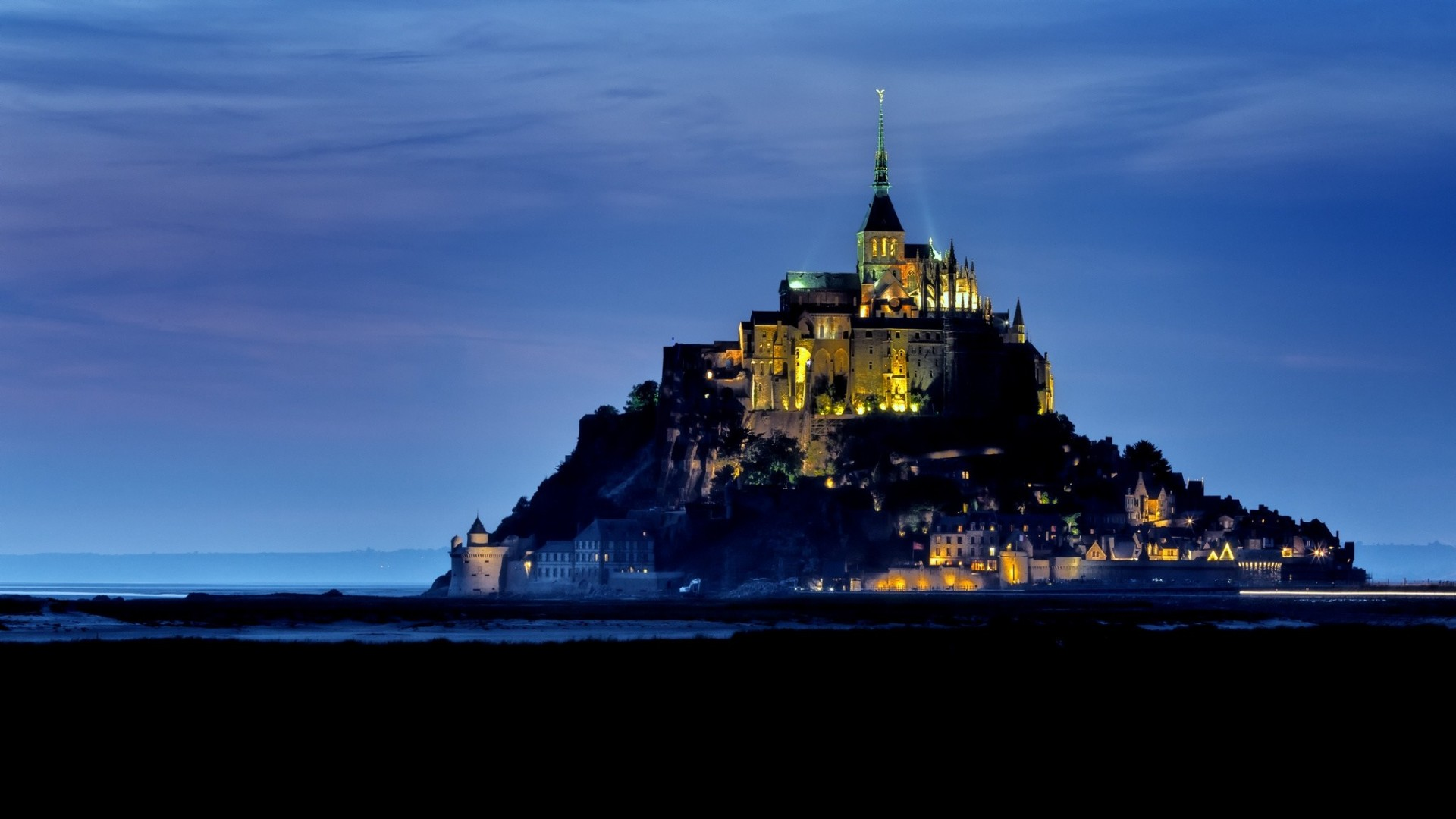 Обои остров-крепость, нормандия. Города foto 11