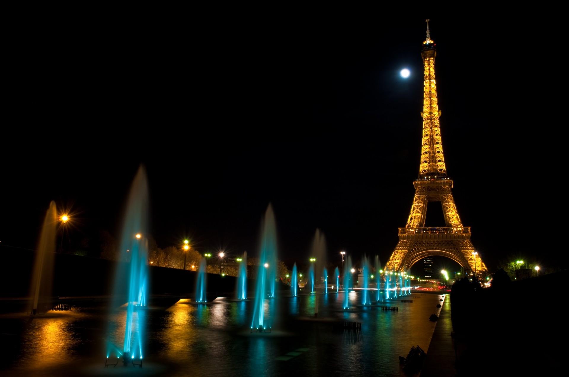 Днем рождения, картинки эйфелевой башни в париже ночью