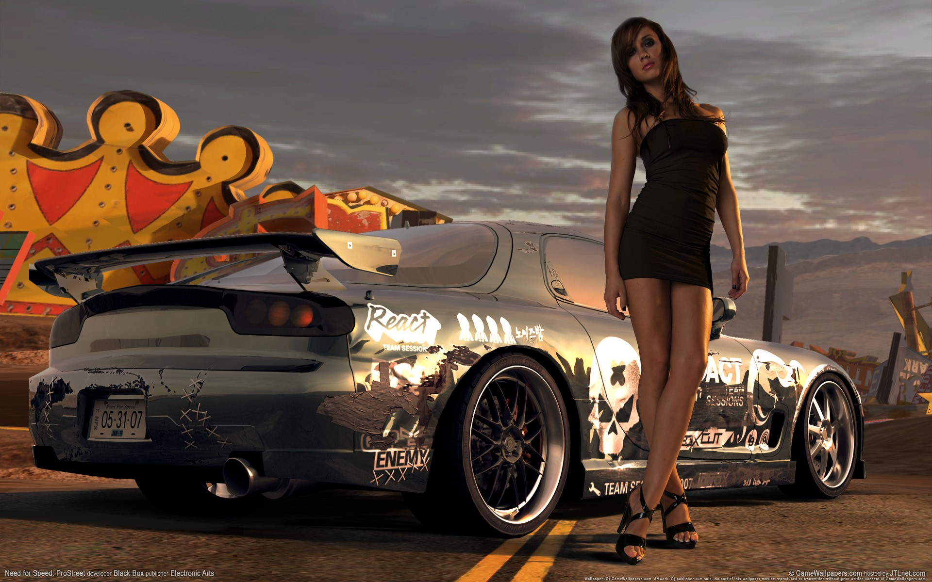 need for speed prostreet девушка