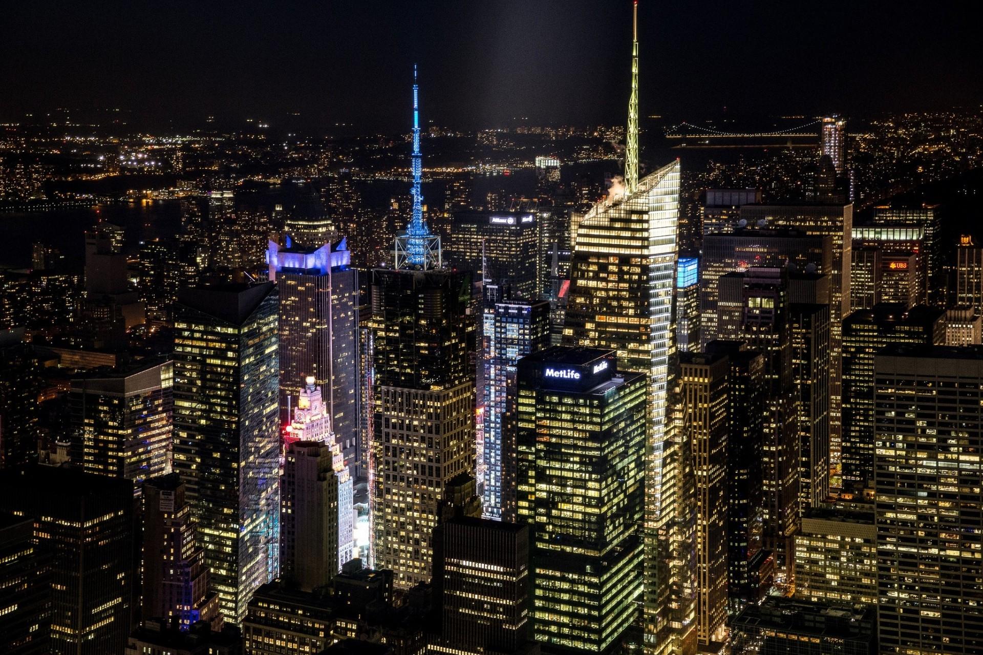 Картинки нью-йорка ночью, открыток смоленск