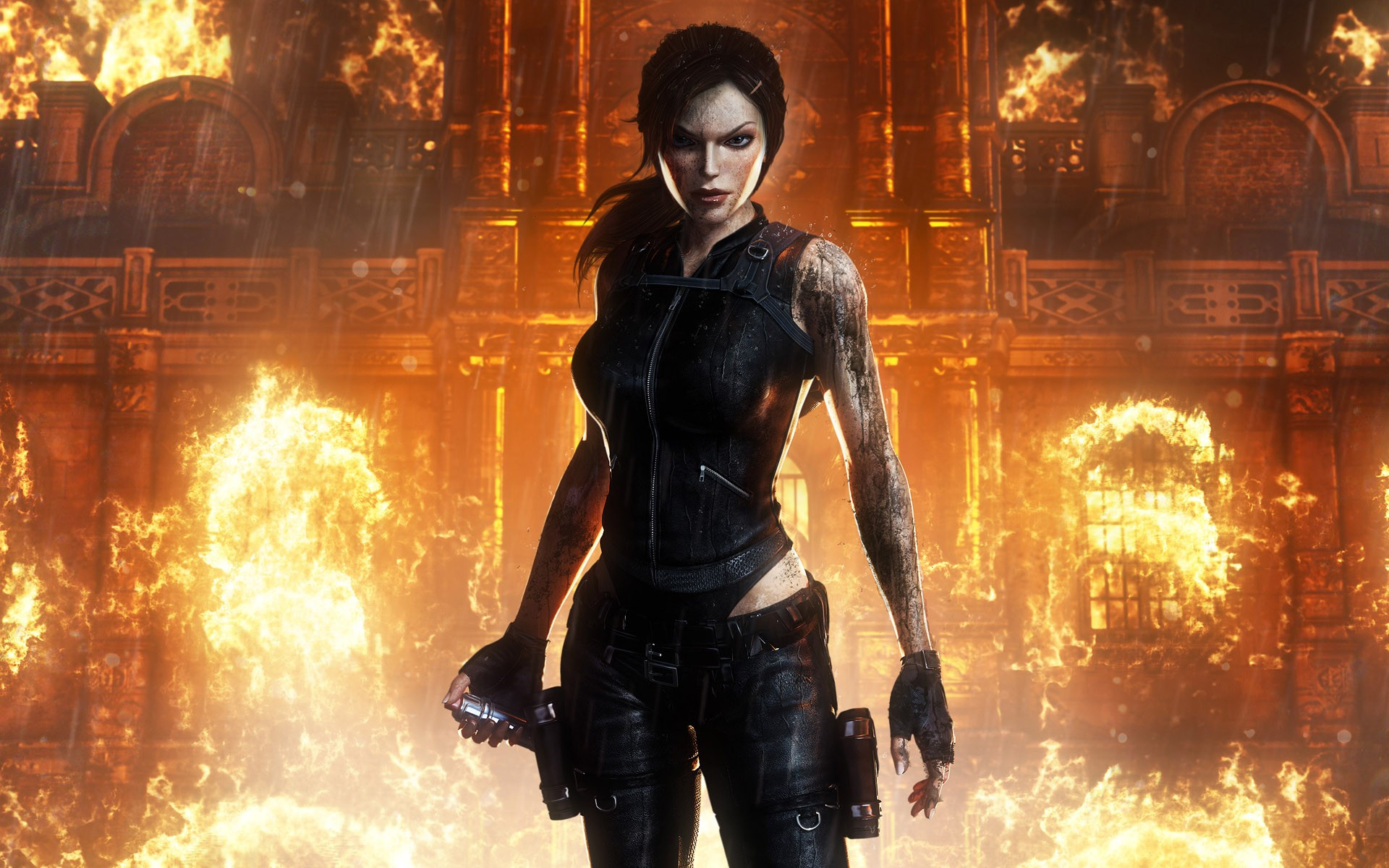 tomb raider underworld лара крофт огонь