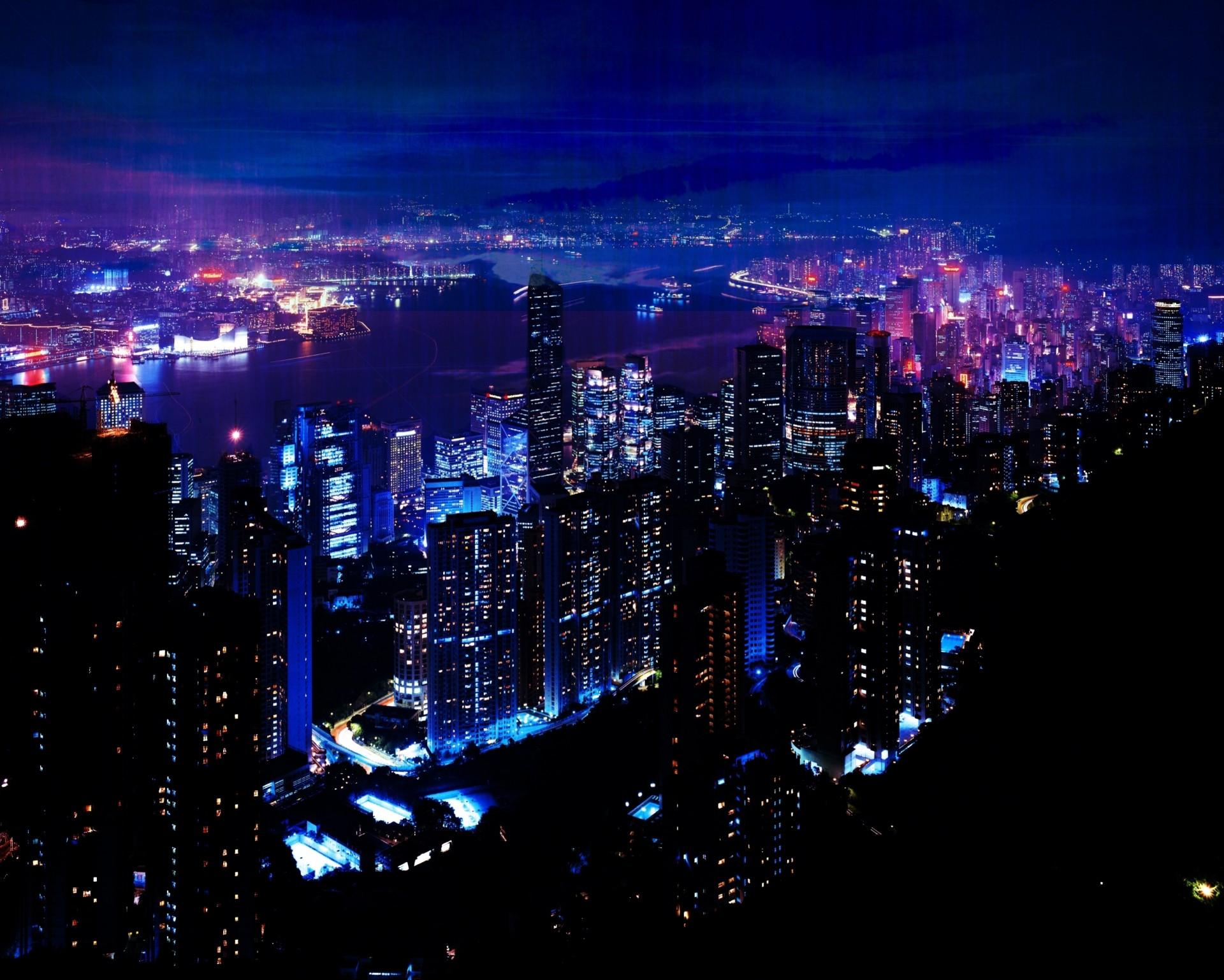 крутые картинки ночного города идеальном