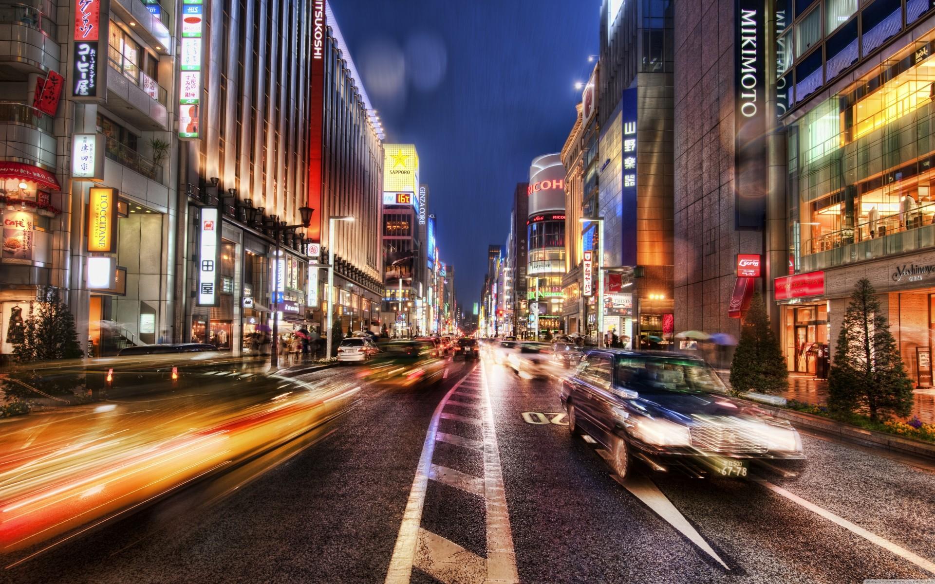 Обои ночь, Япония. Города foto 16