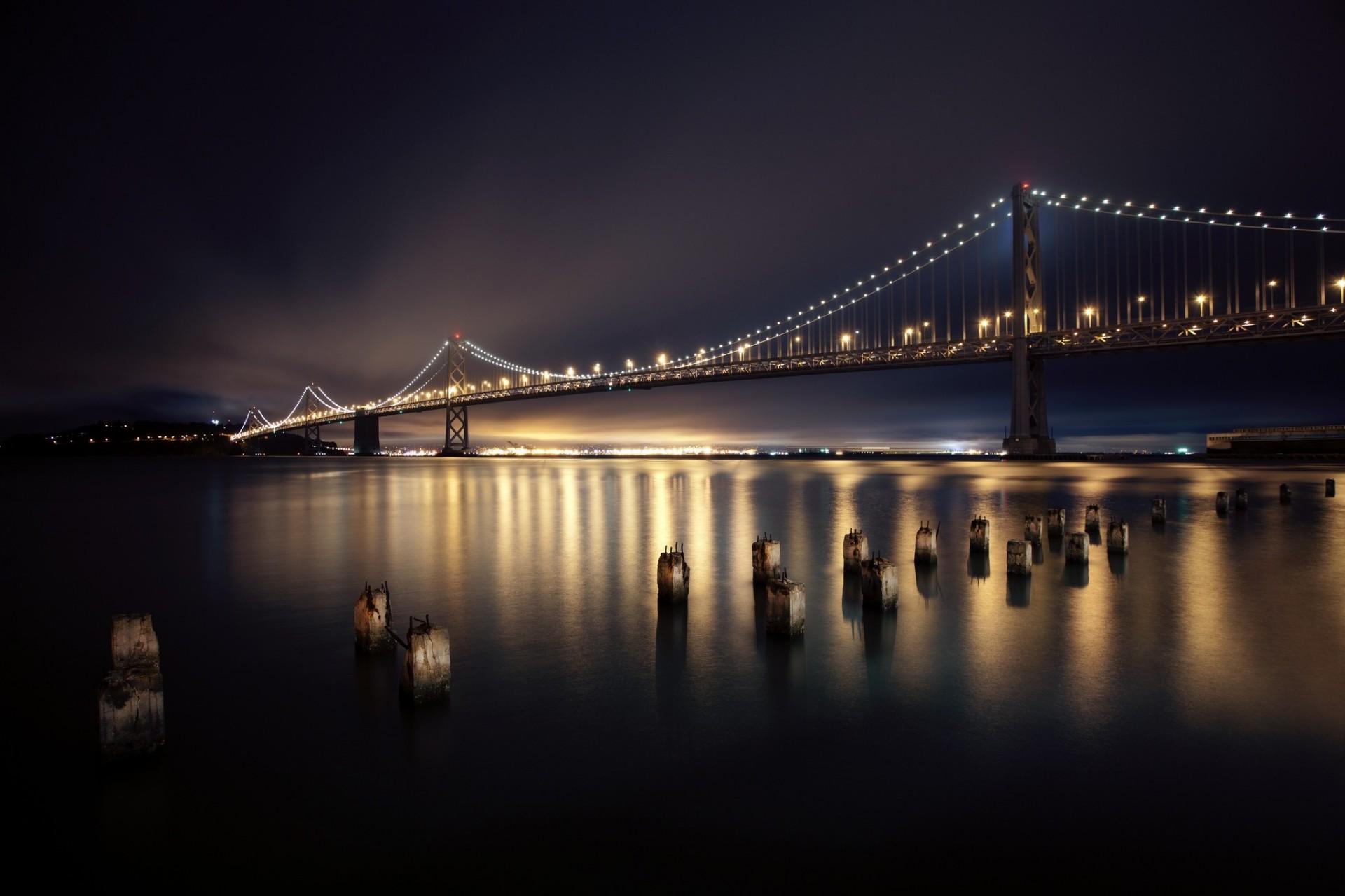 картинка ночной мост для телефона