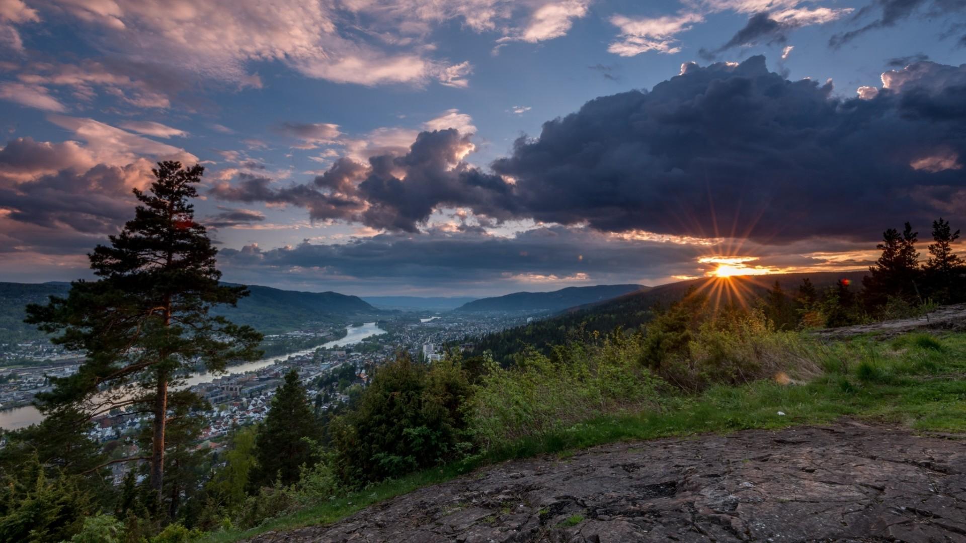 закат склон sunset the slope  № 1569302 загрузить