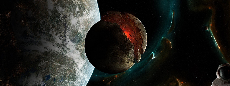 Обои Взрывы на планетах картинки на рабочий стол на тему Космос - скачать скачать