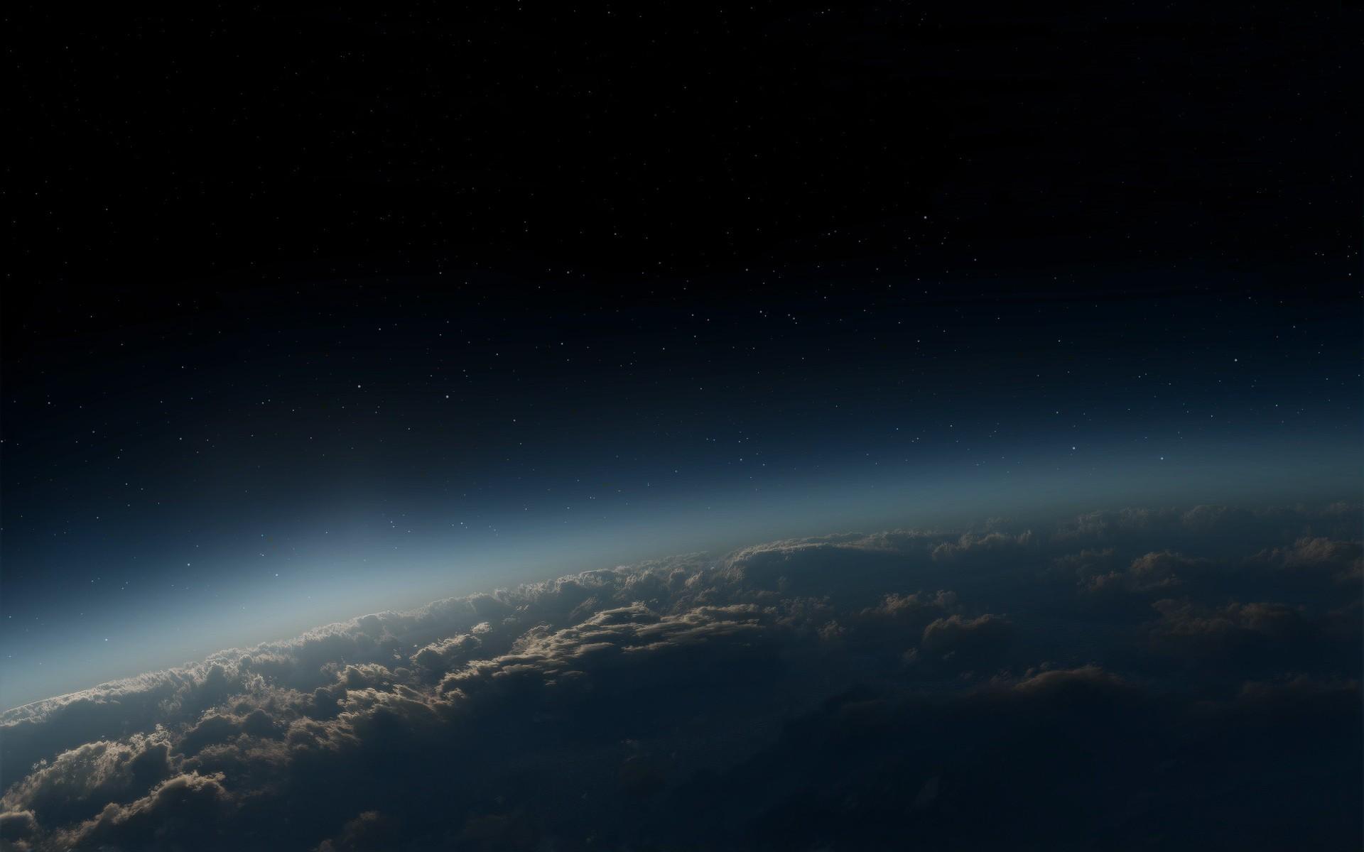 Обои Звездное небо над землей картинки на рабочий стол на тему Космос - скачать  № 1768323 без смс