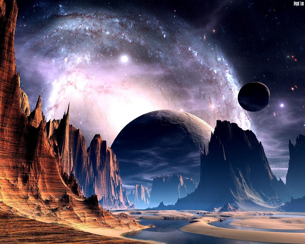 Виде домиков, картинки космические фантазии
