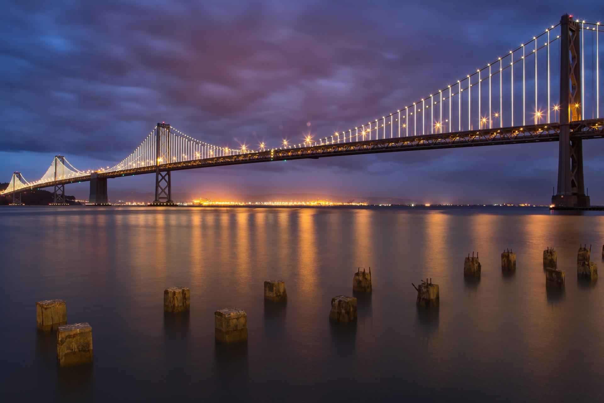 Мост река сумерки  № 3030689 загрузить