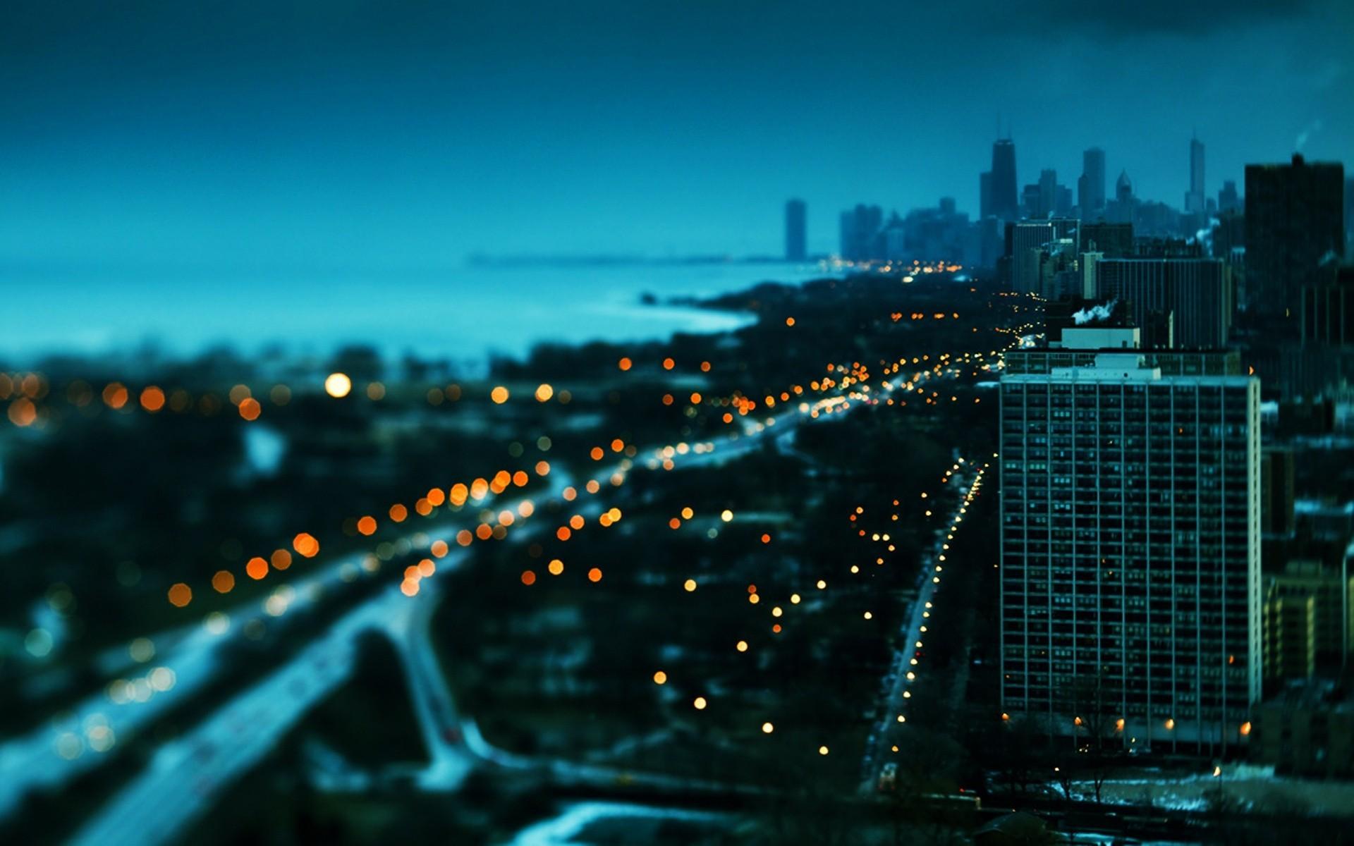 небоскребы город сумерки закат загрузить