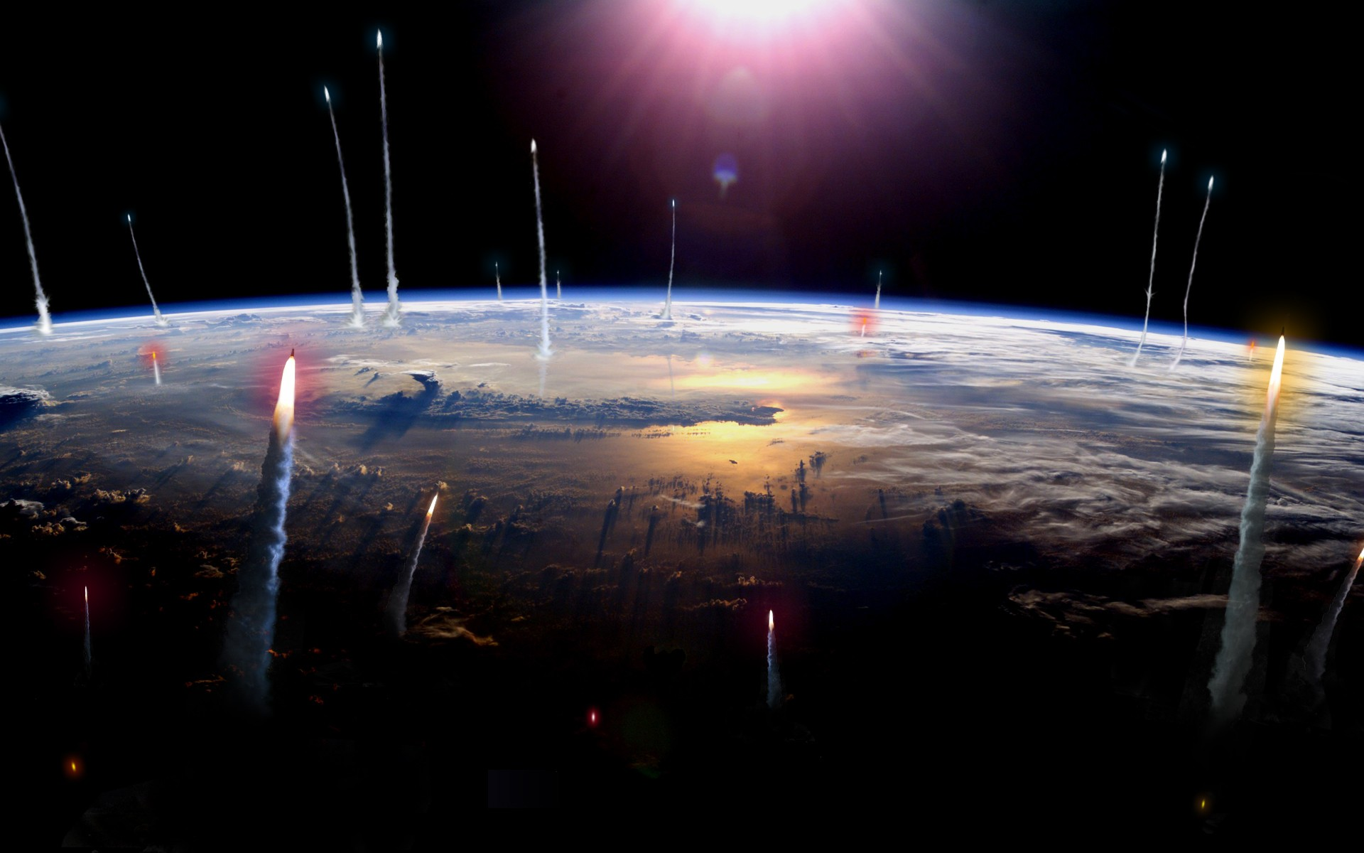the earth spinning closely to its own extinction