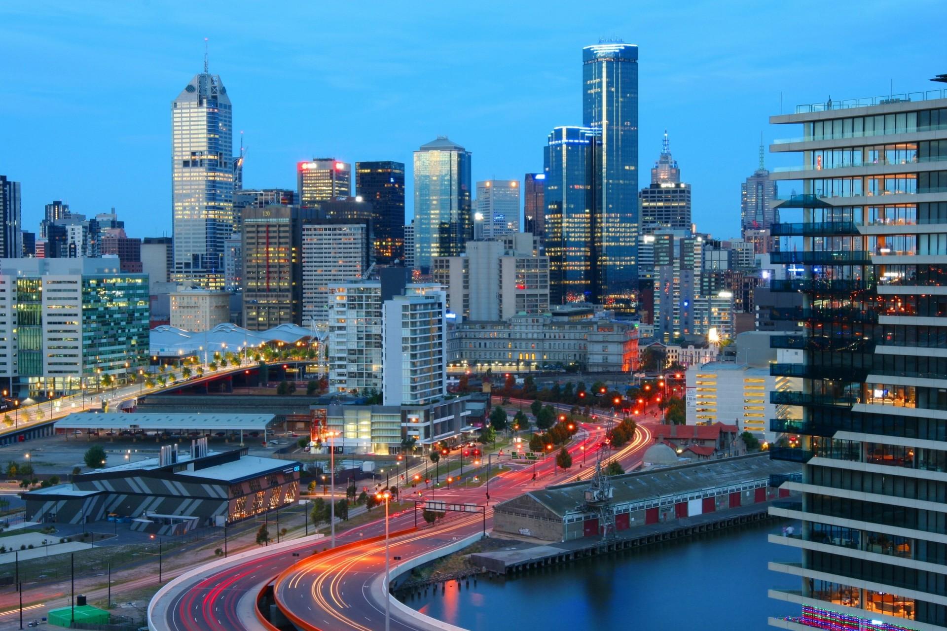 страны архитектура Австралия Мельбурн небо облака природа бесплатно