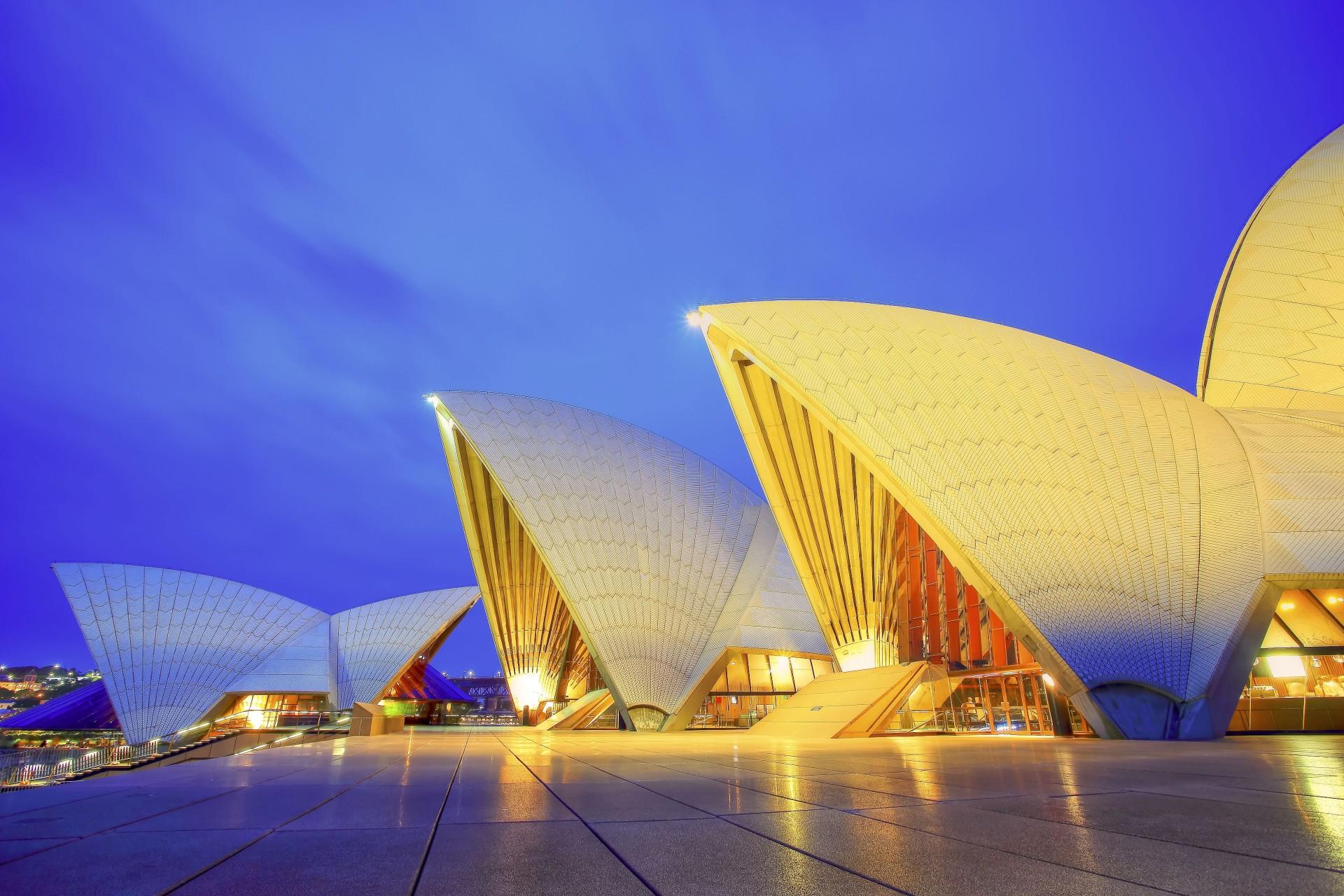 Обои Здание оперного театра в сиднее, ночь. Города foto 14