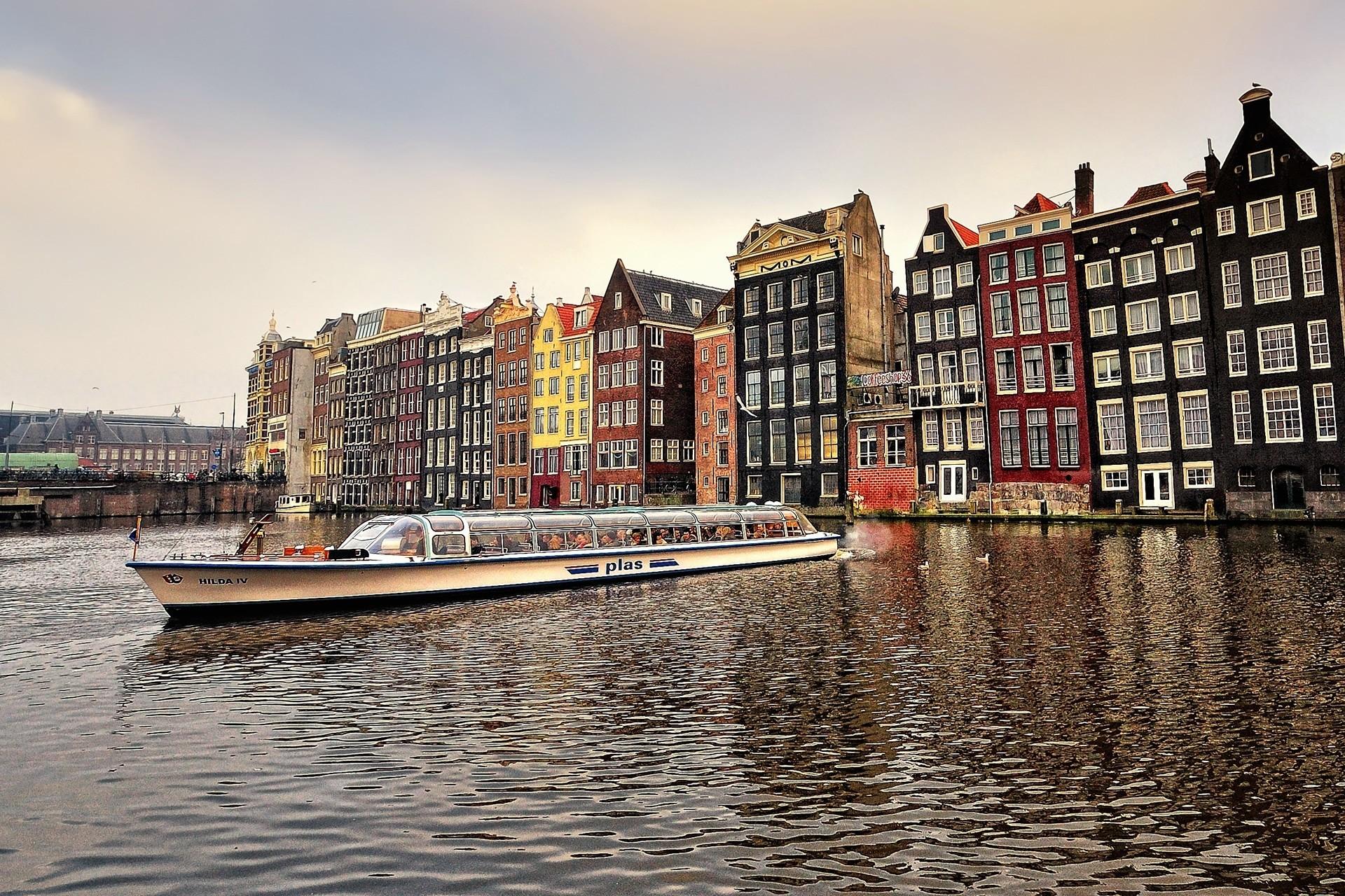 страны архитектура река Амстердам без смс