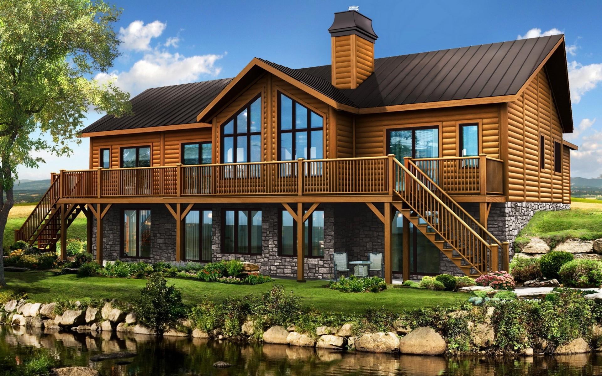 красивые деревянные дома фотогалерея семьи
