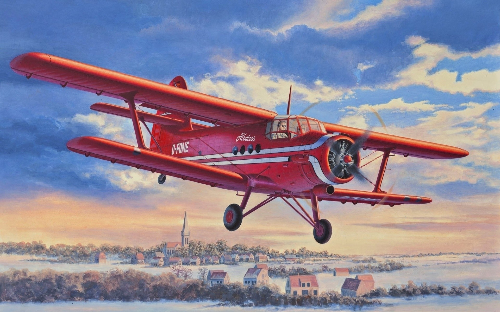 Обои Самолёт, Биплан. Авиация foto 16