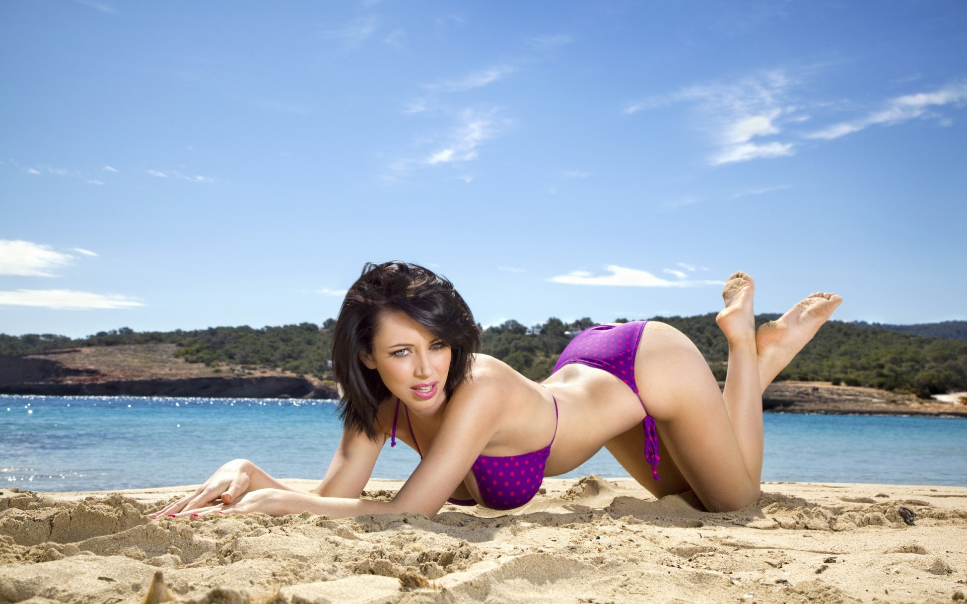 Nude girl sandy beach 12