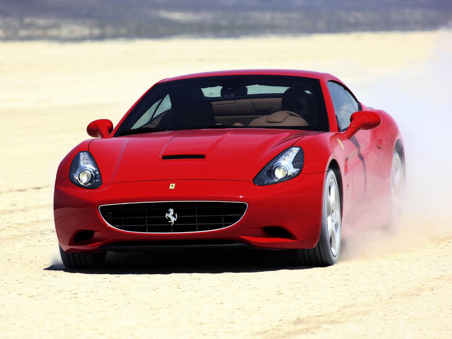 ferrari california пыль
