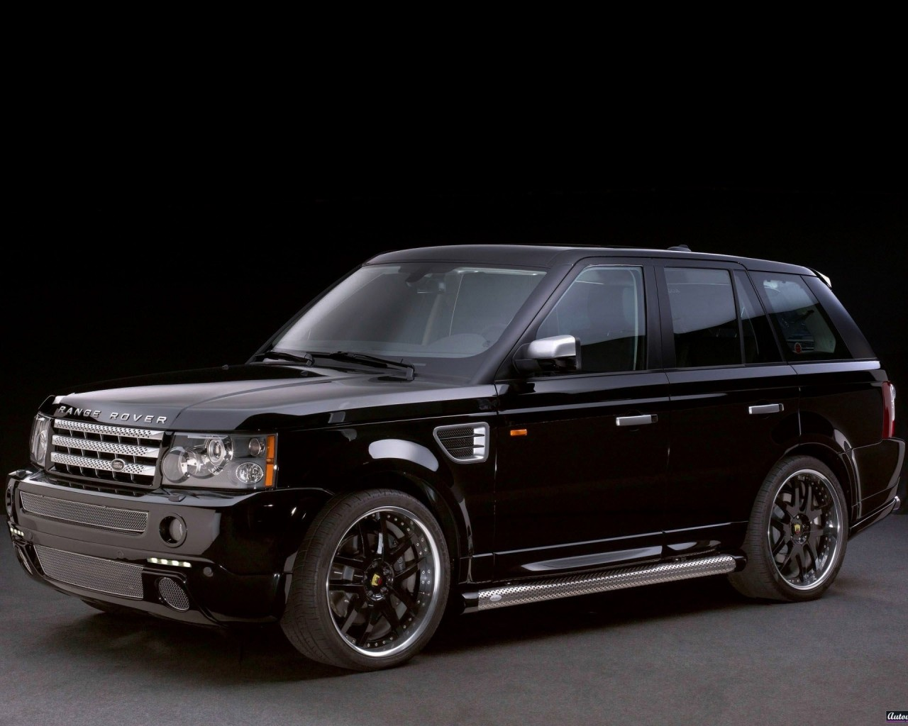 avto land rover black car